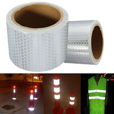 1 Roll 3M White Fluorescence Pure Safety Reflective Car Sticker Warning Tape