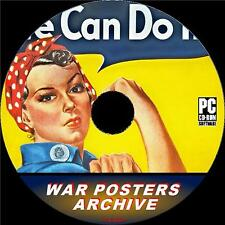 WAR POSTERS ARCHIVE ON PC-CD 4500+ COLLECTION NOSTALGIC IMAGES FROM WW2 ERA NEW