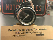 "BARON CHROME 2""  8000RPM TACHOMETER DRAG SPECIALTIES P/N 2211-0060 NEW OPEN BOX"