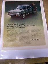 Original 1970 Toyota Corolla Magazine Ad - ...The Left Rear Window...
