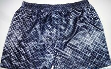 NEW! MEN'S SEXY SATIN BLUE DIAMOND PRINT BOXER SHORT SIZE MEDIUM