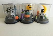 3 HALLOWEEN  Solar Powered Dancing WITCH & SPIDER BAT & SKELETON Terrarium