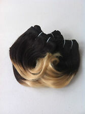 "Brazilian Remy Human Hair 1B-27 Ombre 8"" Short Hairstyles & Bangs 200G (9 Pcs)"