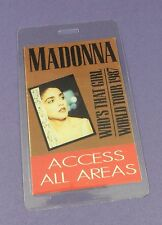Madonna Original Backstage  Pass - Who's That Girl Tour 1987 - Unused Stock !