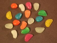 Glow In the Dark Stones Assorted, Blue,Green,Orange,red,Yellow,Pink etc-100 pcs