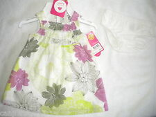 NWT CARTERS GIRLS NEWBORN FLOWER DRESS WITH DIAPER COVER