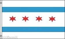 Chicago City Illinois State United States of America 5'x3' Flag !