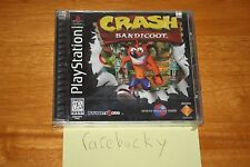 Crash Bandicoot (PS1 PSX Playstation) NEW SEALED BLACK LABEL, SUPER RARE!