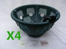 4x 14 inch Green Plantopia Easy Fill Hanging Basket +4 New Water Fountain Device