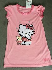 M&S HELLO KITTY PINK NIGHTSHIRT WITH LARGE HELLO KITTY ON FRONT WITH TEDDY -BNWT