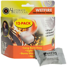 Ultimate Survival Wet Fire Tinder 12pk Non-Toxic ULT-20-1WG0412-BX12 Fresh