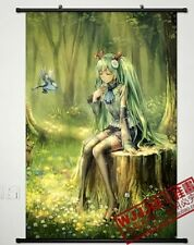 Vocaloid Hatsune Miku Japanese wall poster scroll home decor Anime Cosplay