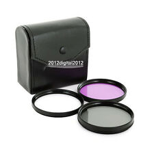 52mm Polarized PL+UV+FLD Camera Filter Kit for Nikon D3200 D5100 D5200 18-55