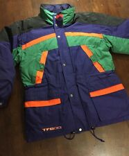 VTG TRIPLE FAT GOOSE DOWN FILL COAT JACKET MENS LARGE/XL COLORBLOCK 90s HIP HOP