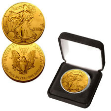 2016 Silver Eagle Gold Layered in a beautiful display box