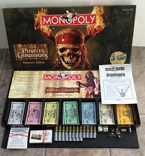 Disneys Pirates Of The Caribbean Monopoly Collectors Edition 100% COMPLETE