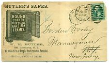 1882 Butler's Safes Advertising Cover w/Company Check - Broadway,NY