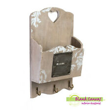 Shabby Chic Wall Tidy - Key Holder - Letter Rack - New