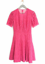WHISTLES WOMENS PINK 'WINONA' LACE DRESS *UK 6/EU 34/US 2* BNWT *RRP £250*