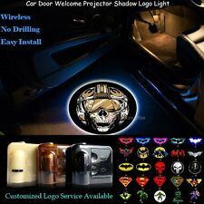 2x Wireless Car Door Laser Projector 3D Star Wars Art Skull Logo CREE LED Lights