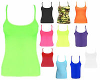 Girls Kid Children Stretch Muscle Vest Top T-Shirt Sleeveless Dance School 5-11