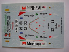 DECALS 1/43 F1 KIT ALFA ROMEO 179 F1 1980 DEPAILLER-GIACOMELLI 1/43 DECALS