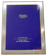"Lovely Silver Satin Colour Photo Frame 6 x 8"" (Landscape Or Portrait)"