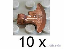 LEGO Ritter - 10 x Axtklinge mit Clip kupfer ( Copper ) / 53705 NEUWARE