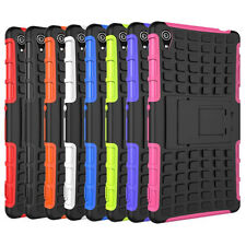 HEAVY DUTY TOUGH SHOCKPROOF & HARD STAND CASE COVER FOR Sony Xperia Z3 Black