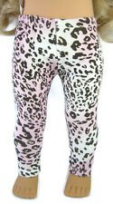 """Pink Brown Leopard Lycra Leggings for 18"""" American Girl Doll Clothes"""
