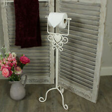 Cream Heart Free Standing Toilet Roll Holder dispenser loo tissue bathroom