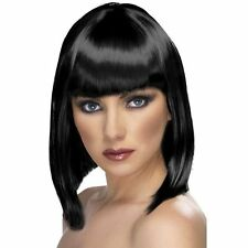 Black Bob Wig Glam Blunt  Fringe Jessie J Celeb Fancy Dress Costume Hen Night