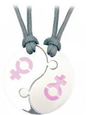 Pride Shack - 2pc Break Apart Lesbian Pride Female Venus Yin Yang Pendants PINK