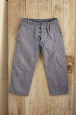 Vintage French work old chore pants denim utilitarian trousers 34W  workwear