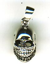 """925 Sterling Silver Skull Pendant   'Opening Jaws' Length 7/8"""" with bail"""