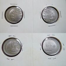 India 2014 1 Rupee 2 diff direction off Centre Misprint Shift  Error Coin M # 9