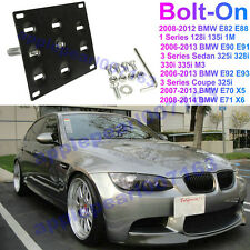 Front Bumper Tow Hook License Plate Mounting Bracket Holder For BMW E82 E88 E92