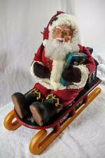 SANTA ON SLEIGH ANIMATED LIGHTS MUSIC OH CHRISTMAS TREE VINTAGE
