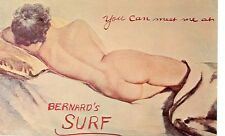 FLORIDA,COCOA BEACH BERNARD'S SURF PIN UP NUDE ADV  (FL-C*)