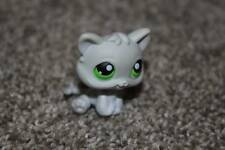 Littlest Pet Shop Gray Kitty #88 Grey Kitten Cat Green Eyes LPS Toy Hasbro