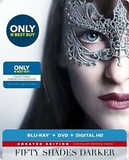 FIFTY SHADES DARKER Blu-Ray+DVD+Digital HD Steel Book BEST BUY EXCLUSIVE