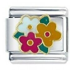 BUNCH OF FLOWERS - Daisy Charms by JSC Fits Classic Size Italian Charm Bracelet