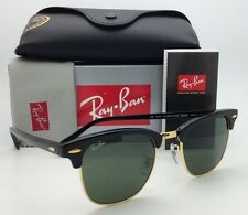 New CLUBMASTER Ray-Ban Sunglasses RB 3016 W0365 Black & Arista w/G15 Green lens