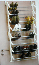 New Over Door Shoe Rack 8 Layers 24 Pairs Shoes Storage Organiser  Space Saving