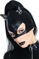 Sexy Night Move Wet Look Women Accessory Cat Mask Attach Rhinestone On Ears