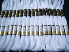 24 Blanco Ancla Algodón floss/thread 8 mtr cada