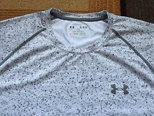 Mens Under Armour Heatgear Short Sleeve Running Workout Shirt Gray stone Camo XL