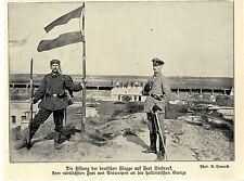 1914 Belgien  * Antwerpen: Deutsche Flagge auf Fort Stabroek gehisst *  WW1