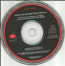 ANITA BAKER Giving you the Best that I got PROMO Radio DJ CD single USA 1988
