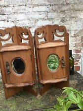 Pair Of Matching vintage wooden Corner Cabinets, Georgian Antique style